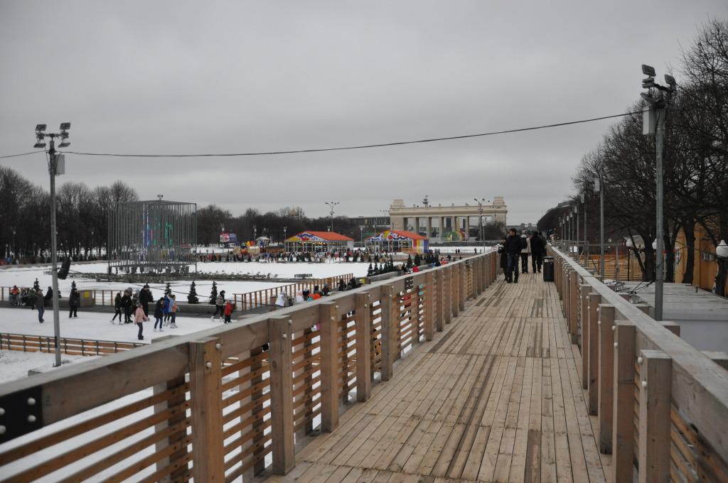 Park Gorkiego lodowisko pomost